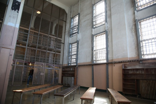A cool shot of the prison library.